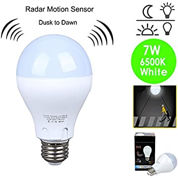 Motion sensor light bulb 7w60w equivalent radar smart bulb dusk to compare with similar items workwithnaturefo