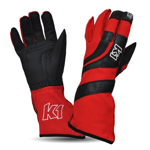 K1 Race Gear 13-RFX-R-S Reflex Red Small Kart Racing Gloves ()