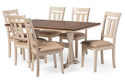 Amazoncom BW Interiors French Country Dining Table Chairs In - Cream distressed dining table