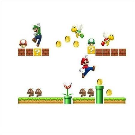 Utopiashi Super Mario Bros ni/ños Removable Wall Sticker Decals Nursery Home Decor Vinyl MUR