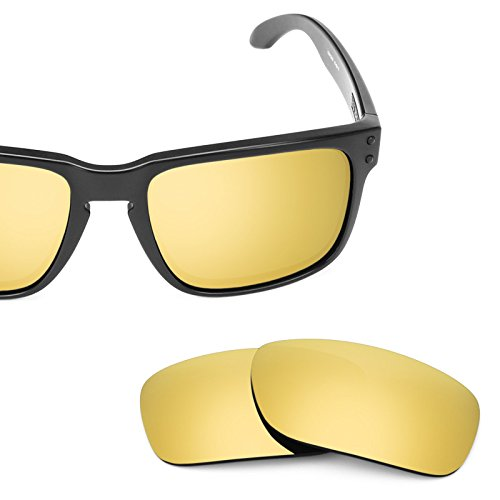 Revant Polarized Replacement Lenses for Oakley Holbrook Elite Flare Gold MirrorShield