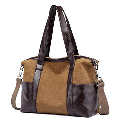 Bag Donne A Tote Donna Tela Elegante Crossbody Borsa Borse Feixiang® Messenger In Colore Caffè Spalla Puro 6wgAqFB
