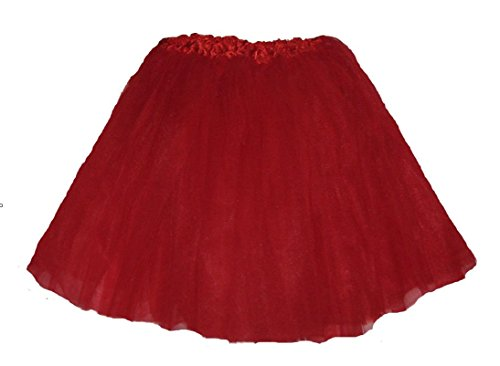 Southern Wrag Company Extra Plus Size Ballet Tutu Waist 34-66 Length 16-17 (Red)]()