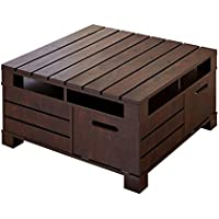 ioHOMES Feltria Coffee Table with Storage, Vintage Walnut