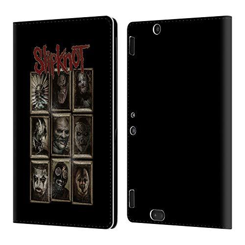 Official Slipknot Masks Key Art Leather Book Wallet Case Cover Compatible for Amazon Kindle Fire HDX 8.9]()