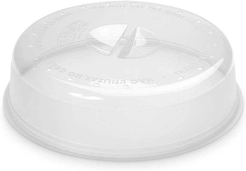 Metaltex 732845 Tapadera para microondas con Salida de Vapor, Ø26x6.5 cm