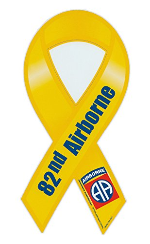 - Magnetic Bumper Sticker - 82nd Airborne Division (Army) - Ribbon Shaped Military Support Magnet - 4