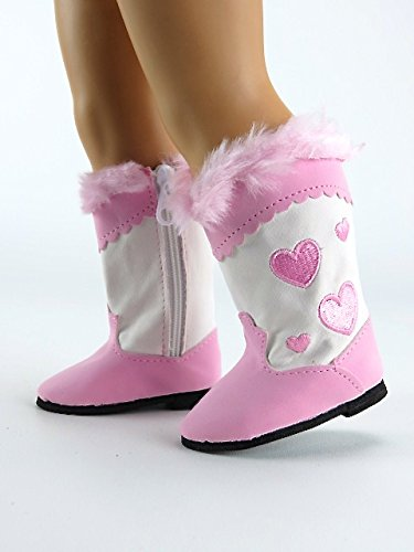 Baby Pink and White Western Heart Boots 18
