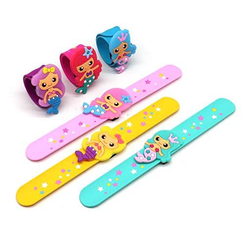 실리콘 인 SLAP 팔찌 귀여운 인 테마의 생일 파티 소녀 파티 선물 상품을 카니발을 설정(6 팩)
