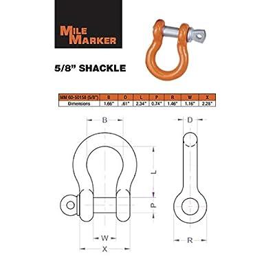 Mile Marker 60-50158 Orange 5/8