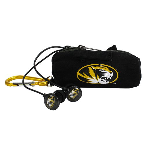 NCAA Missouri Tigers Scorch Earbuds with Bud Bag