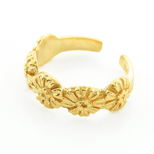 14k Yellow Gold Floral Toe Ring by More Toe Rings