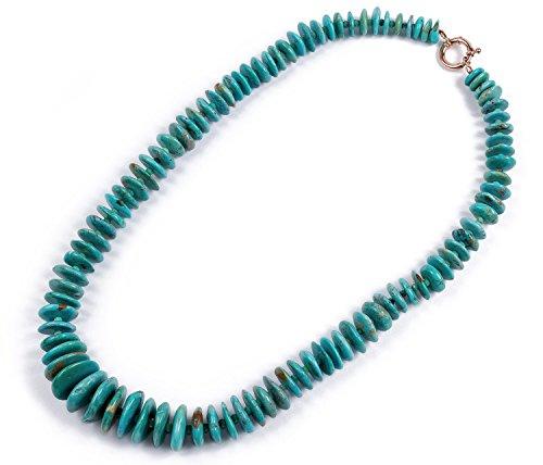 Aphrodite-Collier de turquoise et agate vert
