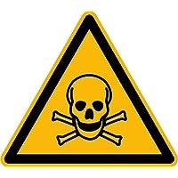 Pegatinas W016 advertencia contra sustancias tóxicas 12 unidades