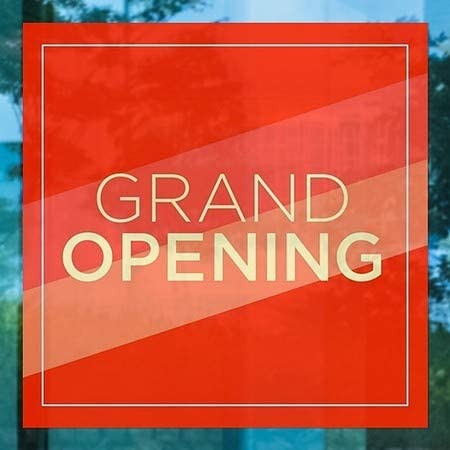 12x12 5-Pack Grand Opening Modern Diagonal Window Cling CGSignLab