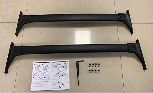 Tuntrol 2 Pieces Cross Bars Cargo Luggage Side Rail Fit for Toyota RAV4 2019 2020 Adventure Black Crossbars Roof Rack