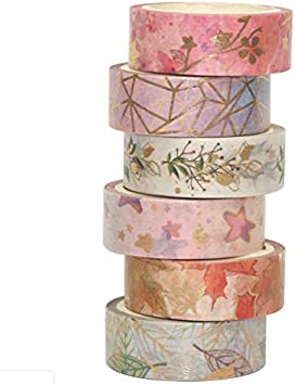 Ocean Crafts Hawaii Stickers Card Making Gold Foil Conch Shell Washi Tape Tropical  CR-W-F121 Summer Sun Scrapbooking Supplies