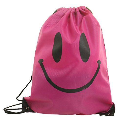 [DrawString Pouch Beach Bag Sport Travel Swim Gym Duffle Waterproof Backpack New (Pink Smile)] (Doctor Barbie Costume)