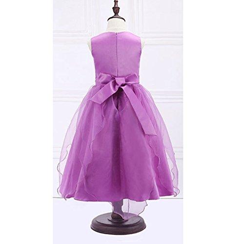 Light Lihaer Dresses Girls Wedding Dress Fashion Sleeveless Party Dress Multicolor Formal Purple Children Princess Tutu rqxOrwBg