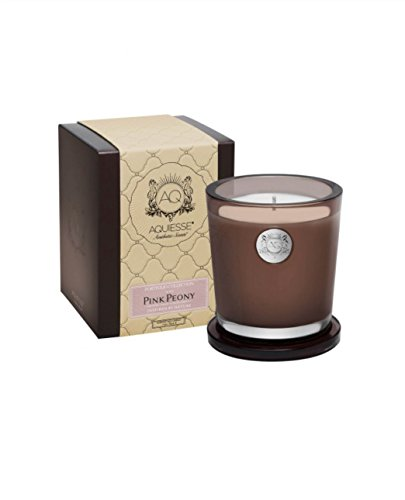 Pink Soy Candle (PINK PEONY 11oz Aquiesse Portfolio Collection Gift Boxed Scented Soy Candle)