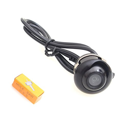 Backup Camera, Hole Drilling 22.5mm EKYLIN Car Auto Backup Camera Cam Screw Bumper Mount Universal Fit Parking Assistance Grid Lines ()
