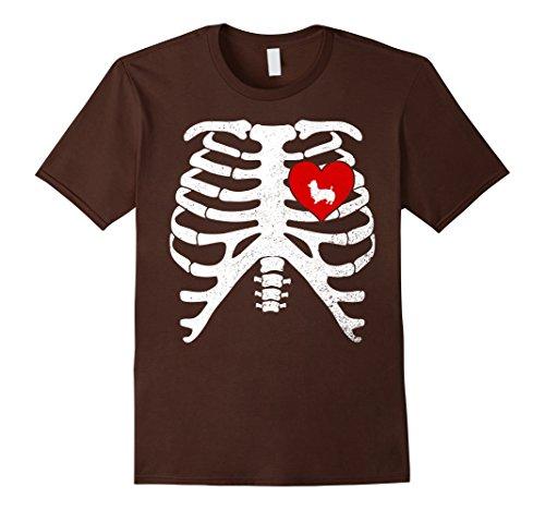 Mens Halloween Skeleton Xray Costume T-Shirt AUSTRALIAN TERRIER 3XL (Australian Costume For Men)