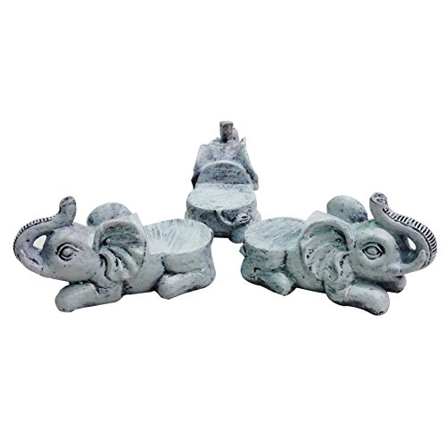 Animated Poly Resin Elephant Shaped Pot Feet/Planter Risers Set of 3 for large pots (Stands Resin Plant)