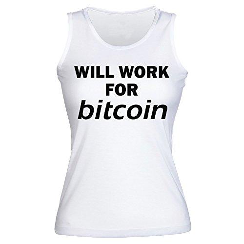 Will Work For Bitcoin Womens Pour des Femmes Tank Top Shirt