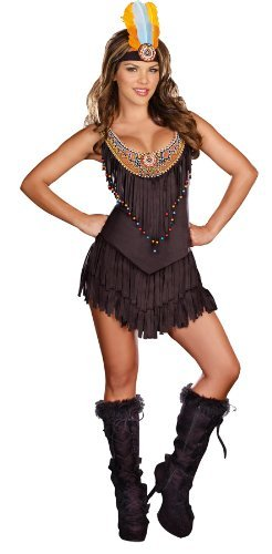 Sexy Indian Dress - Dreamgirl Women's Reservation Royalty Dress, Black,