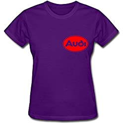 Van Women's Volks Wagen AG Germany Audi Car Luxury Brand Logo T Shirts M Purple
