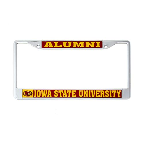 Desert Cactus Iowa State University Alumni Metal License Plate Frame for Front Back of Car Officially Licensed ISU Cyclones (Alumni) (University Iowa Frame State)