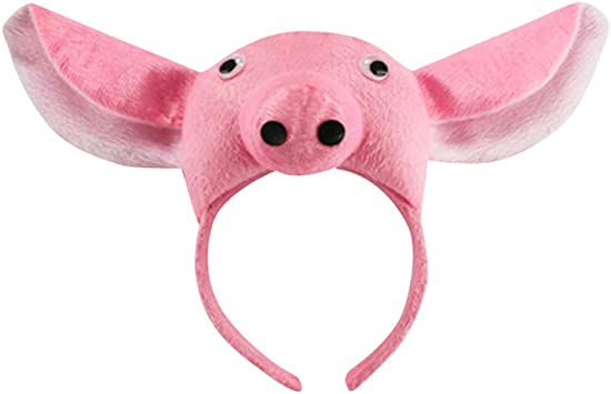 Amosfun Disfraz de Cerdo para Niños Gorro de Peluche Animal ...