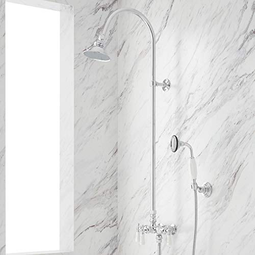 Signature Hardware 304382 Exposed Shower System with Shower Head and Handshower