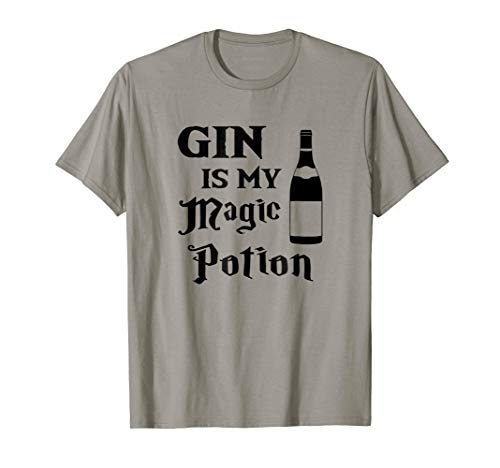 Couples Halloween Costumes Gin is my magic potion T Shirt -