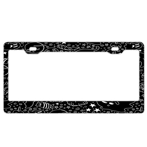 (FunnyframeABC Halloween Party Ii Cat Metal Aluminum License Plate)