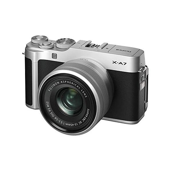 "RetinaPix Fujifilm X-A7 24.2 MP Mirrorless Camera with XC 15-45 mm Lens (APS-C Sensor, Large 3.5"" Vari-Angle Touchscreen, Face/Eye Auto Focus, 4K Video Vlogging, Blur Control, Film Simulations) - Silver"