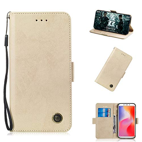 TOTOOSE Xiaomi Redmi 6 Xiaomi Redmi 6A Case, Xiaomi Redmi 6 Xiaomi Redmi 6A Wallet Case, Leather Case, Premium Slim Leather Wallet Back Case with Credit Card ID Holder Protective Case ()