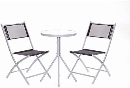 Set de mesa Balcón Set 2 Sillas y 1 mesa – muebles de jardín silla ...