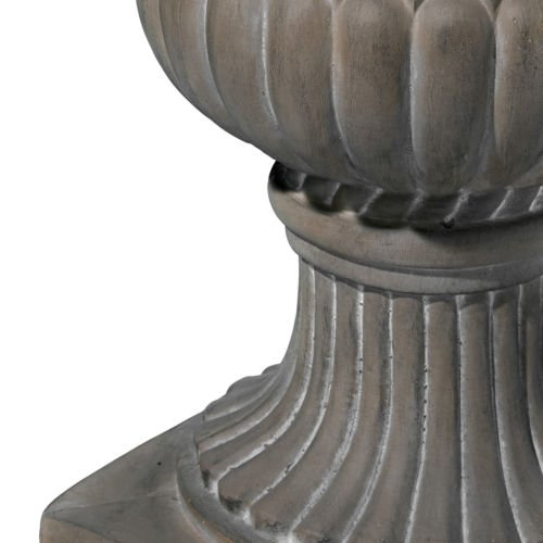 NEW 25'' Decor Outdoor Strong Qartz Tall Aged Green Stone Garden Urn Planter / Flowers Pot by Unbranded