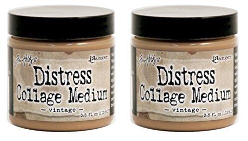 ranger-tim-holtz-distress-collage-medium-38-fl-oz-jar-vintage-tda47940-bundle-of-2