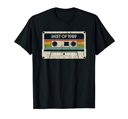 Best of 1989 30th Birthday Cassette T-Shirt for Men or Women