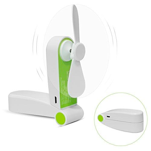 Foldable Handheld Mini Fan USB Rechageable Desktop Fan Portable Pocket Fan 2 Speeds Adjustable Personal Fan for Home Office Travel Outdoors