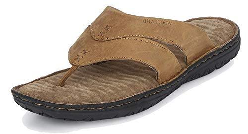 Woodland Men's Camel Leather Slippers GP 2667117 Camel (11 UK/India (EU 45))