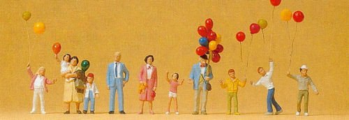 Preiser 24659 Selling Balloons HO Model Figure