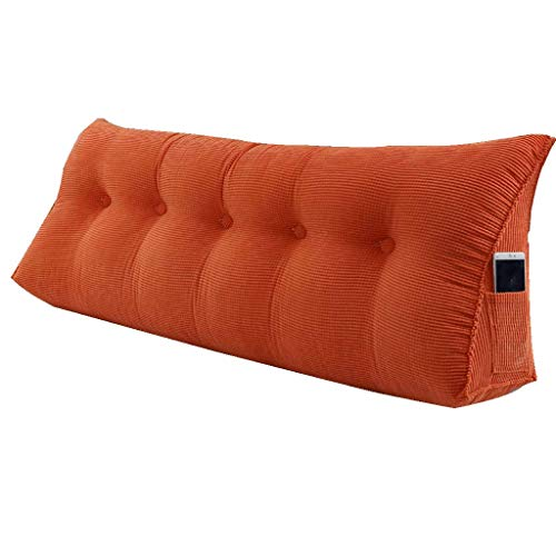 YXLKZ Headboard Bed Cushion Cushion Bed Wedge Backrest Lumbar Cushion Soft Pack Bed Large Backrest Bedroom Sofa Pillow Multi-Function (Color : F, Size : 1002350cm)