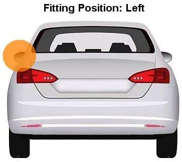 Chrom/é finish Left Passenger Side Wing Mirror Cover Aftermarket 388-FTC134C-8500