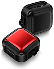 Case for Samsung Galaxy Buds Live (2020)/Buds Pro (2021), Heavy Duty Armor Protective Shockproof Anti-drop Case, Compatible with Galaxy Buds Live (Red)