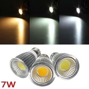 E27 7W 700-750LM Dimmable COB LED Spot Lamp Light Bulbs AC 220V # Color--neutral white