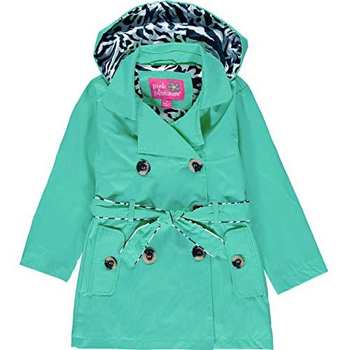 pink platinum trench rain jacket - 1