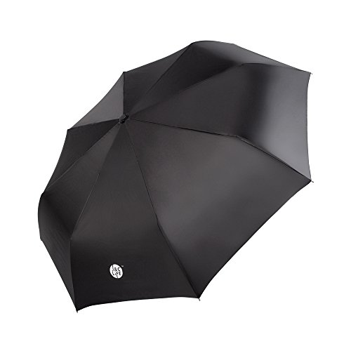 J&C LIFE Unbreakable Wind-Proof Golf Umbrella Light-Weight Strong 8 Rib Frame Automatic and Convenient Compact One Hand Auto Open and Close Folding Umbrella Black